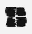 abstract black thick smear of paint isolated on a vector image vector image