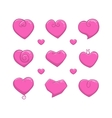 Abstract Hearts Set vector image vector image