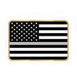 american thin line flag vector image vector image