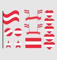 austria flag set collection of symbols flag in vector image vector image