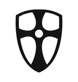 Best shield simple icon vector image vector image