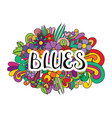 blues tangle pattern background vector image vector image