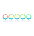 bright colored circles infographic template vector image vector image