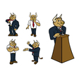 bull suit poses vector image vector image