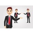 business man showing something vector image vector image