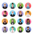 businessmen and business women avatars vector image