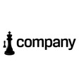chess strategy logo vector image
