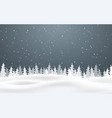 christmas background falling snow winter night vector image vector image