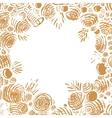 Christmas Holiday hand drawn frame vector image vector image