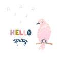 colorful cute bird vector image