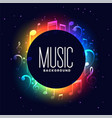 colorful musical festival background with music vector image