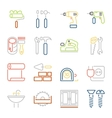 colorful outline web icons set vector image vector image