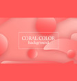 coral color abstract background vector image