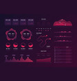 dashboard technology ux ui interface information vector image vector image