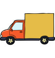 doodle car delivery vector image
