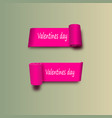 eps 10 pink ribbons on the day of st valentine vector image vector image