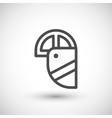 Face shield line icon vector image