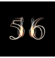 Fire and Smoke font Numbers 5 6 vector image vector image