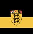 flag baden-wrttemberg vector image vector image