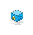 flat cube icon vector image vector image