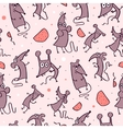 Funny Rat seamless pattern vector image