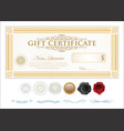 gift certificate retro vintage template 6 vector image vector image