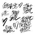 girl power vector image vector image