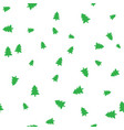 green christmas tree on a white background vector image vector image