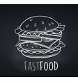 hamburger icon blackboard style vector image vector image
