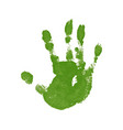 hand paint print isolated white background green vector image
