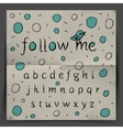Handwriting Alphabet - Follow me vector image vector image