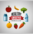 healthy lifestyle sport gym vector image vector image