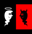 heck and angel white and black ghost evil spook vector image