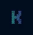 k circuit technology letter logo icon design vector image