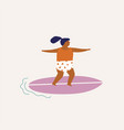 kids surfing in summertime vector image