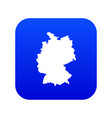 map germany icon digital blue vector image vector image