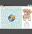 maze educational game with puppy characters vector image vector image
