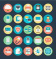 Networking Colored Icons 3 vector image vector image