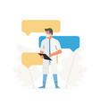 online consultation through health application vector image