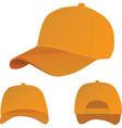 orange baseball cap vector image vector image