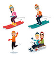 people doing winter sports vector image
