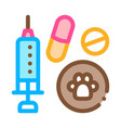 pet medicaments icon outline vector image vector image