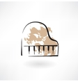 piano keyboard grunge icon vector image