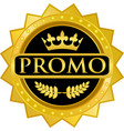 promo gold icon vector image