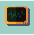 Pulse monitoring flat icon vector image vector image