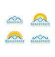 real estate logo design realty logo vector image vector image