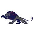 roaring lion sport logotype vector image vector image