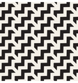 Seamless Black And White Chevron ZigZag vector image