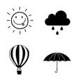 seasons weather icon set collection vector image