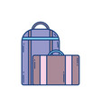 suitcase bag luggage travel aviation transport vector image